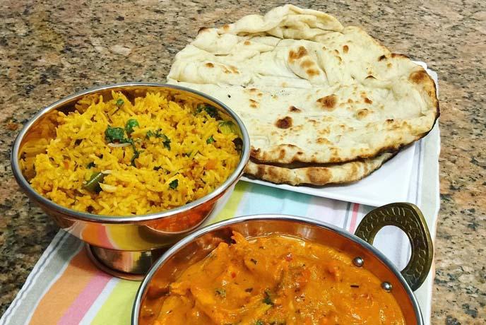 Biriyani and Indian flat bread