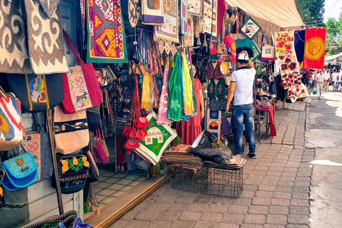 Explore Lanes of the Osh Bazaar