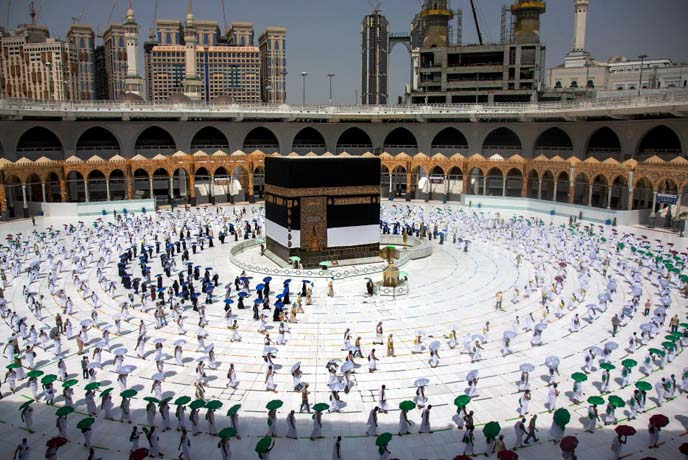 Muslims world over celebrate a drastically scaled down hajj festival